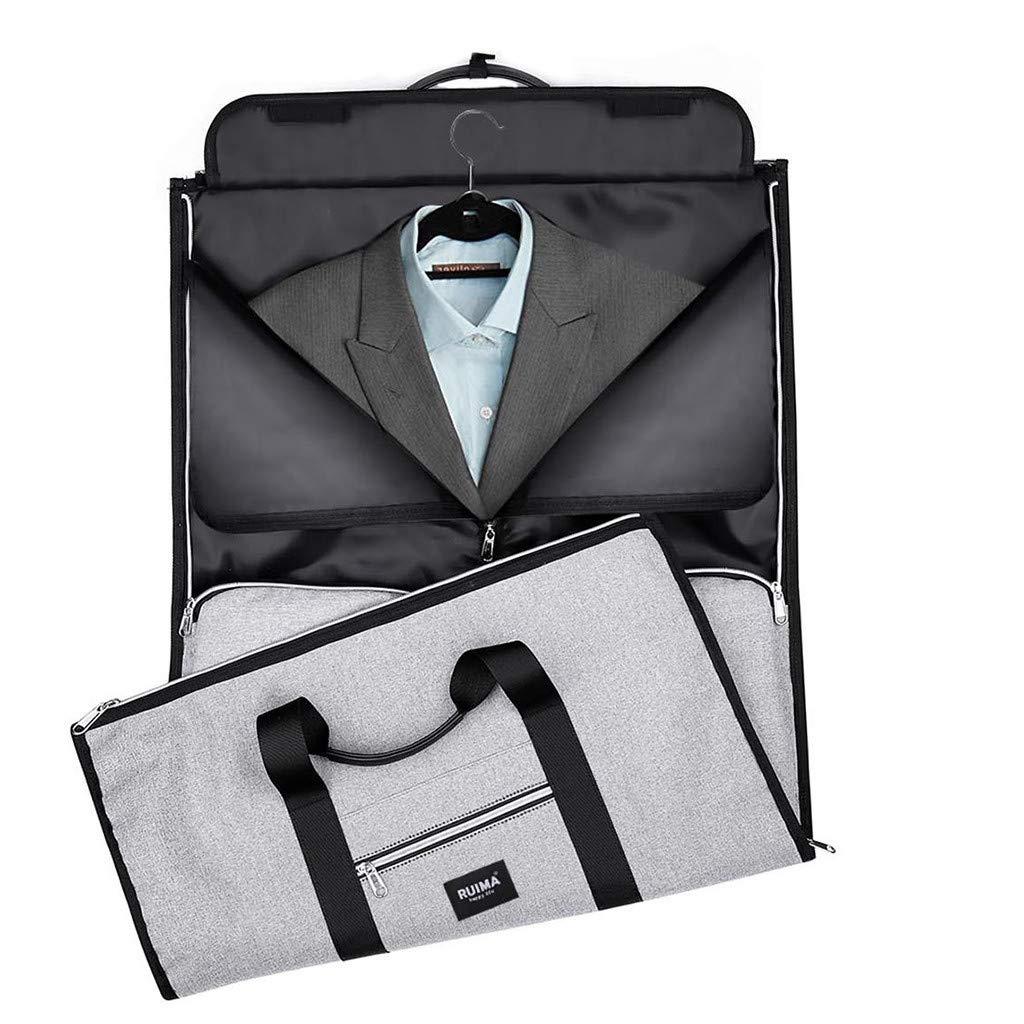 Gray YJYdada New 2 in 1 Travel bag Shoulder Luggage Hangeroo Two-In-One Garment Bag Duffle