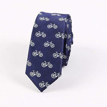 KYDCB Moda Hombre Corbatas Marino Impresión Cráneos Bicicleta A ...
