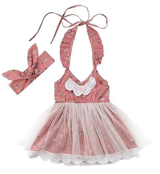 3b783c8fd12e Amazon.com  Emmababy Newborn Baby Girls Floral Bodysuit Romper ...