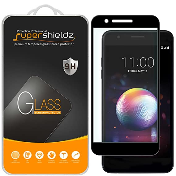 (2 Pack) Supershieldz for LG Premier Pro LTE (Not Fit for LG Premier LTE)  Tempered Glass Screen Protector, (Full Screen Coverage) Anti Scratch,  Bubble