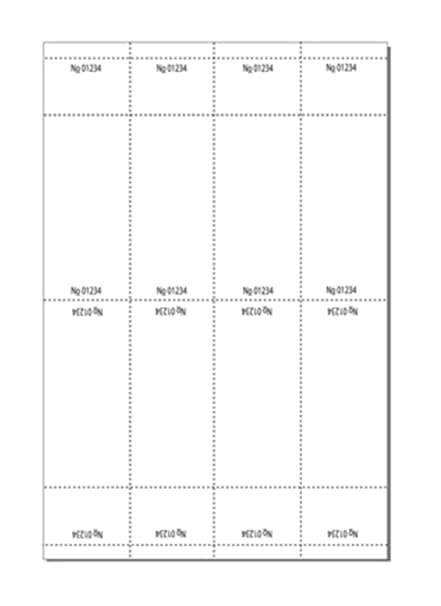 amazon com print ready numbered tickets w perfed stub 3 x 8 1 2