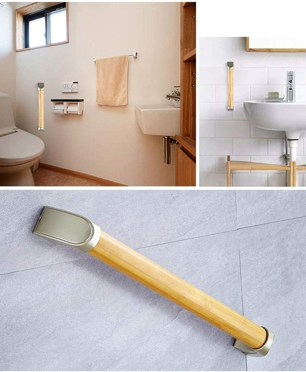 Kid FMLFS Grab Bar Bathroom Waterproof Anti-slip Safety Support Handrail For Stairs,Corridor Tub,Handicap,Injury Hand Rail Wooden Grab Rails For Bath And Showers For Disabled And Elderly