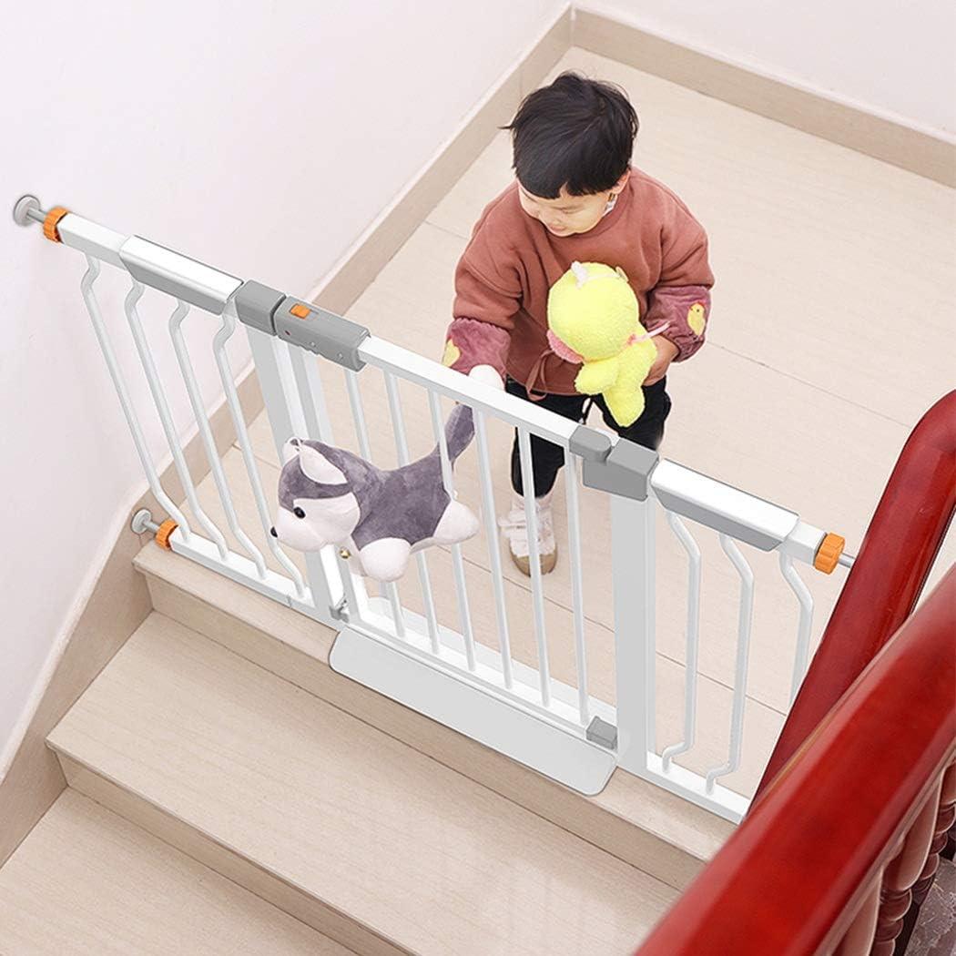 ベビーゲート 階段の戸口トップのために暖炉をマウント圧力で赤ちゃんペットセーフティゲートのドアの拡張可能なスルー伸縮ウォークエクストラワイドフェンス (Color : Height 78cm, Size : 90-97cm)