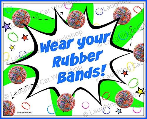 Funny Orthodontist print, Braces art, Pediatric Orthodontist office wall decor, teeth art, rubber band art, Braces Rubber bands print, Tooth Teeth Art