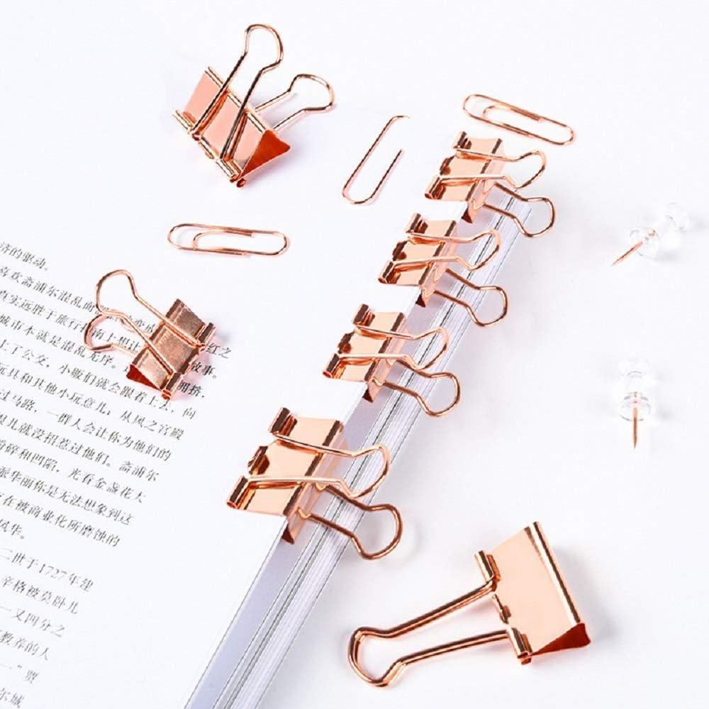 B/ürobedarf Set Lernwerkzeuge Einschlie/ßlich 44 * Binder-Clips // 60 * B/üroklammern // 40 * Rei/ßn/ägel f/ür B/üromaterial 144 St/ück B/ürobedarf Kit