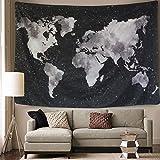 BLEUM CADE Starry World Map Tapestry