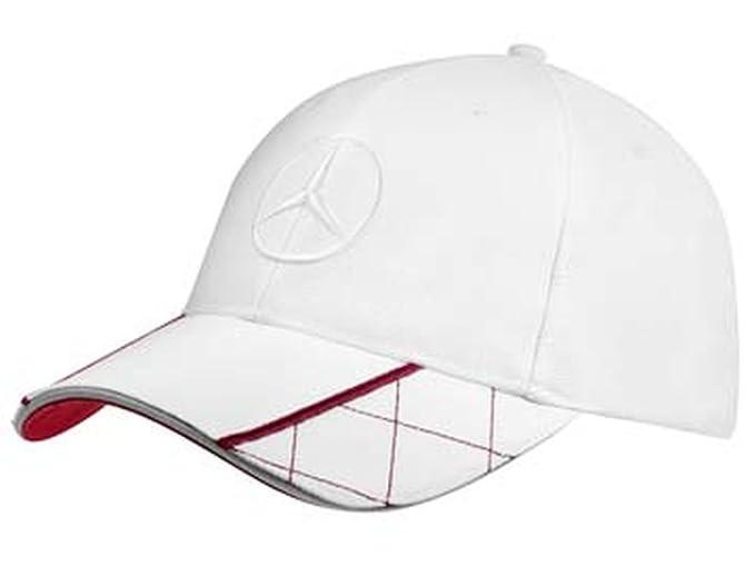 Mercedes-Benz Gorra Hombres blancos / rojo, 100% Poliéster: Amazon.es: Ropa y accesorios