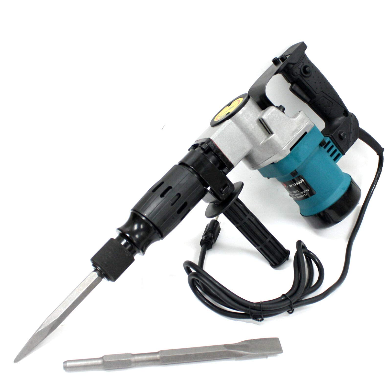 9TRADING 3000BPM 1-1/2'' Electric Demolition Jack Hammer Concrete Breaker With Chisels Bits