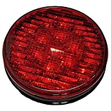 New 019-01-381 Red 4'' Round LED Light 12/24 Multi Volt, STT (Stop/Turn/ Tail)