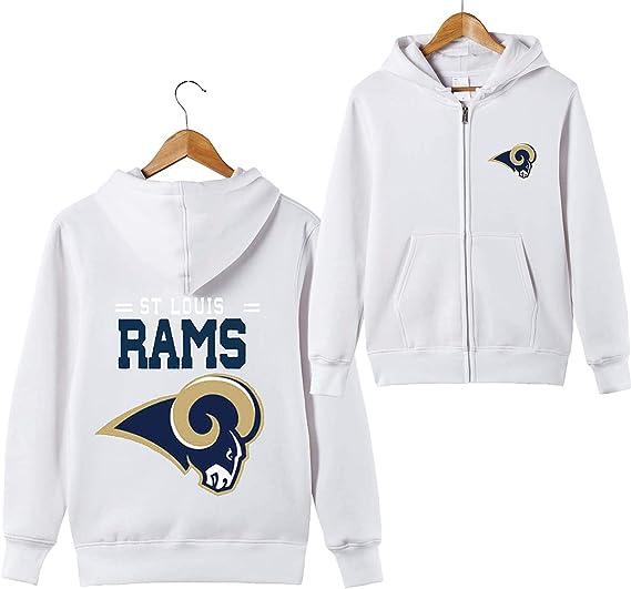 ZXTXGG Hommes Sweats à Capuche 3D St Louis Rams NFL Équipe