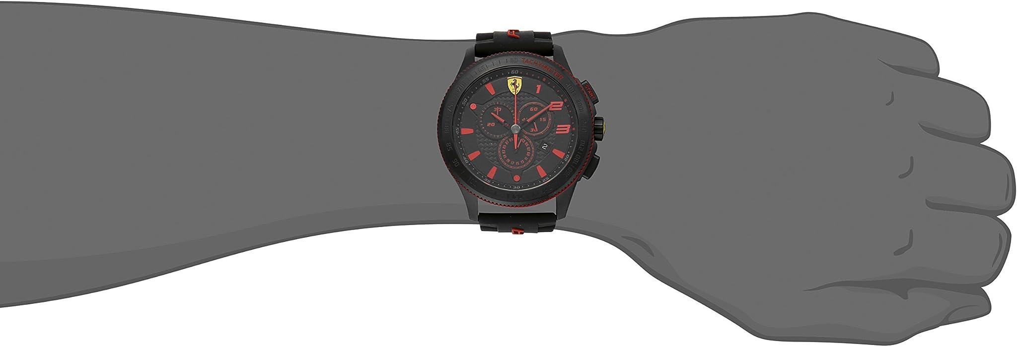 Ferrari Men 0830138 Scuderia XX  Silicone Band Watch