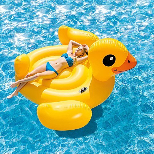 Intex Inflatable Mega Yellow Duck Island Float