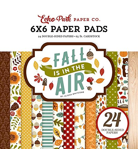 Echo Park Paper Company FIA112023 Fall is in The Air 6x6 Paper Pad (6x6 Paper Scrapbook Pad)
