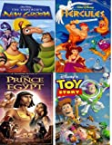 disney pack 4 vhs: The Emperor's New Groove (Walt Disney Pictures Presents) , The Prince of Egypt, Hercules (A Walt Disney Masterpiece), Toy Story