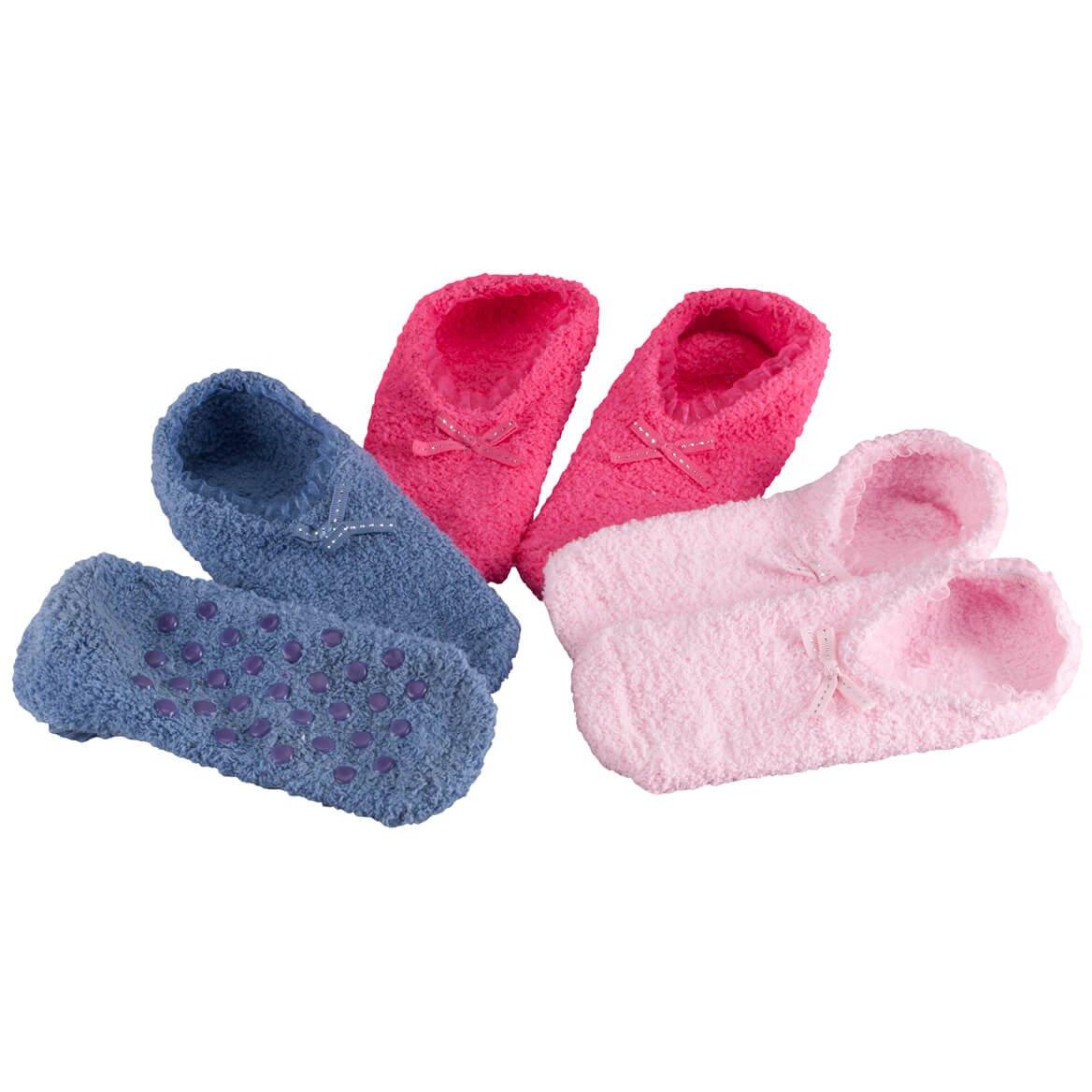 Miles Kimball Ballet Gripper Socks, 3 Pair