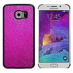 LECELL--Funda protectora / Cubierta / Piel For Samsung Galaxy S6 EDGE SM-G925 -- Pink Fuchsia Texture Pattern --