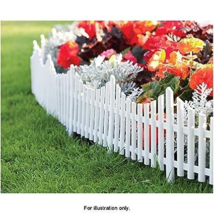 amazon com mdl set of 3 mini white garden picket fence panels