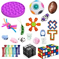 Soaab 32 Pack Sensory Toys Set,Fidget Toys for Adults, Kids,Babies Stress Relief Anti-Anxiety Fidget Toy Party Favour…