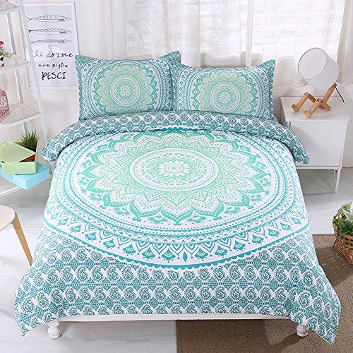 Boho Bedding Sets Polyester - MeMoreCool Brushed Reactive Printing 20 Beautiful Patterns NO FILLER Twin