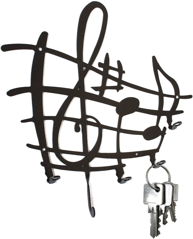 Steelprint.de Tableau de cl/és Mod/èle port/ée avec notes de musique