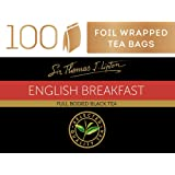 Sir Thomas Lipton English Breakfast, Foil Wrapped Tea Bags, 100 Pieces, English Breakfast