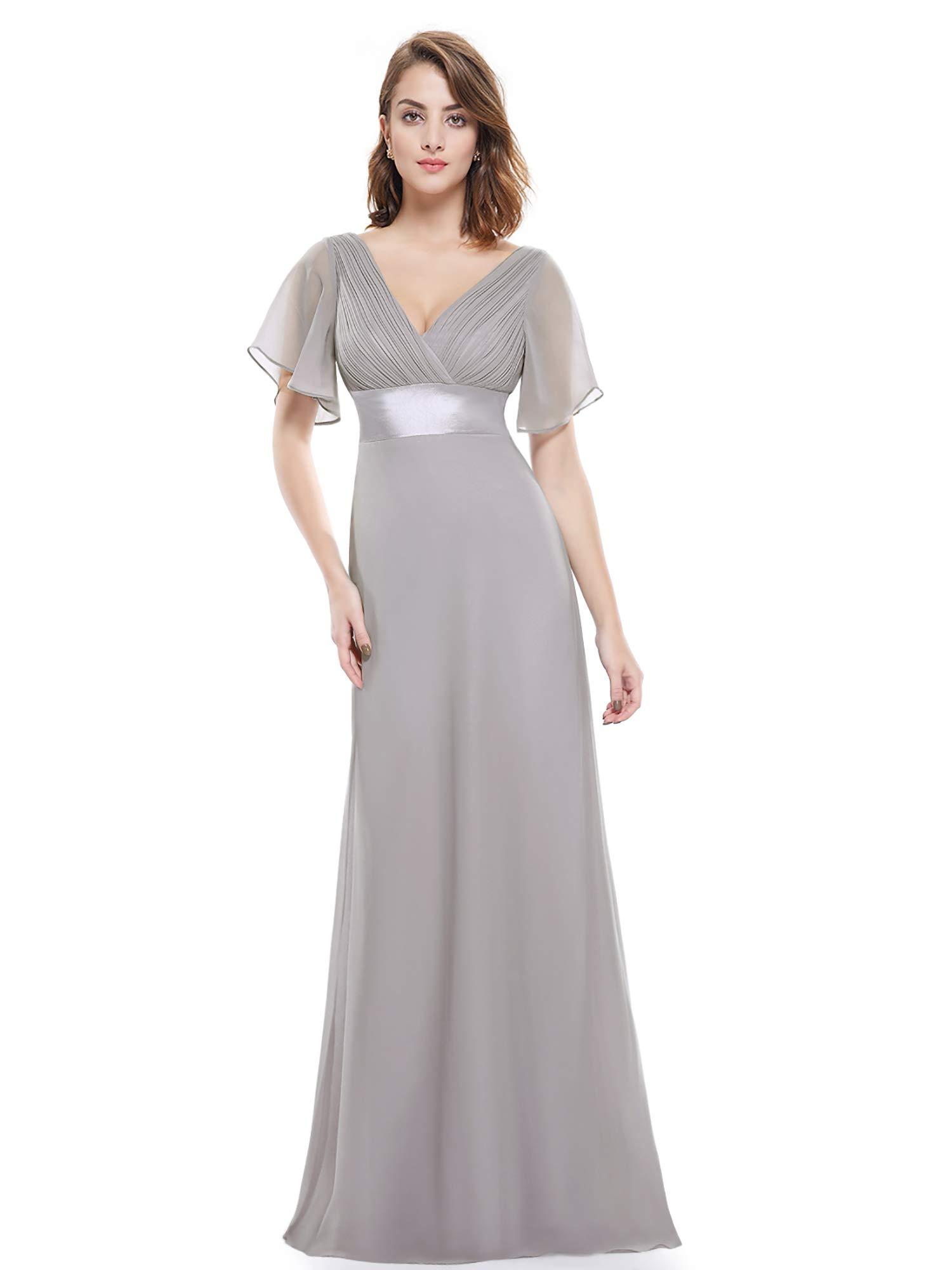 144aea174a Ever-Pretty Womens Floor Length Formal Wedding Guest Dress 16 US Grey