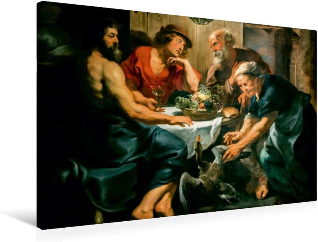 Premium - Lienzo de tela (75 x 50 cm, horizontal, diseño del calendario Peter Paul Rubens Rubens, cuadro sobre bastidor, imagen sobre bastidor y Baucis (1620/1625), arte calvido