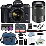 Canon EOS M5 Digital Camera With 18-150mm f/3.5-6.3 IS STM Lens + Canon M5 Advanced Accessory Bundle - M5 Canon Mirrorless Camera Includes EVERYTHING You Need To Get Started