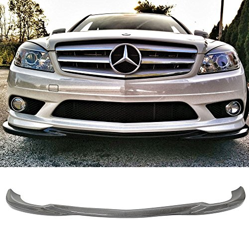 Front Bumper Lip Fits 2008-2011 Mercedes Benz C Class W204 | AMG Style Carbon Fiber Front Bumper Lip Other Color Available By IKON MOTORSPORTS | 2009 2010