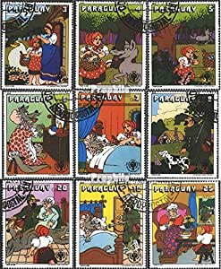 sellos para coleccionistas: Paraguay 3229-3237 (completa.edición.) matasellado 1979 Grimm Cuento de hadas caperucita roja