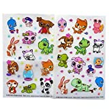 Littlest Pet Shop - Colourful Creative Rub on Transfer Stickers - 2 Sheets - by Hasbro