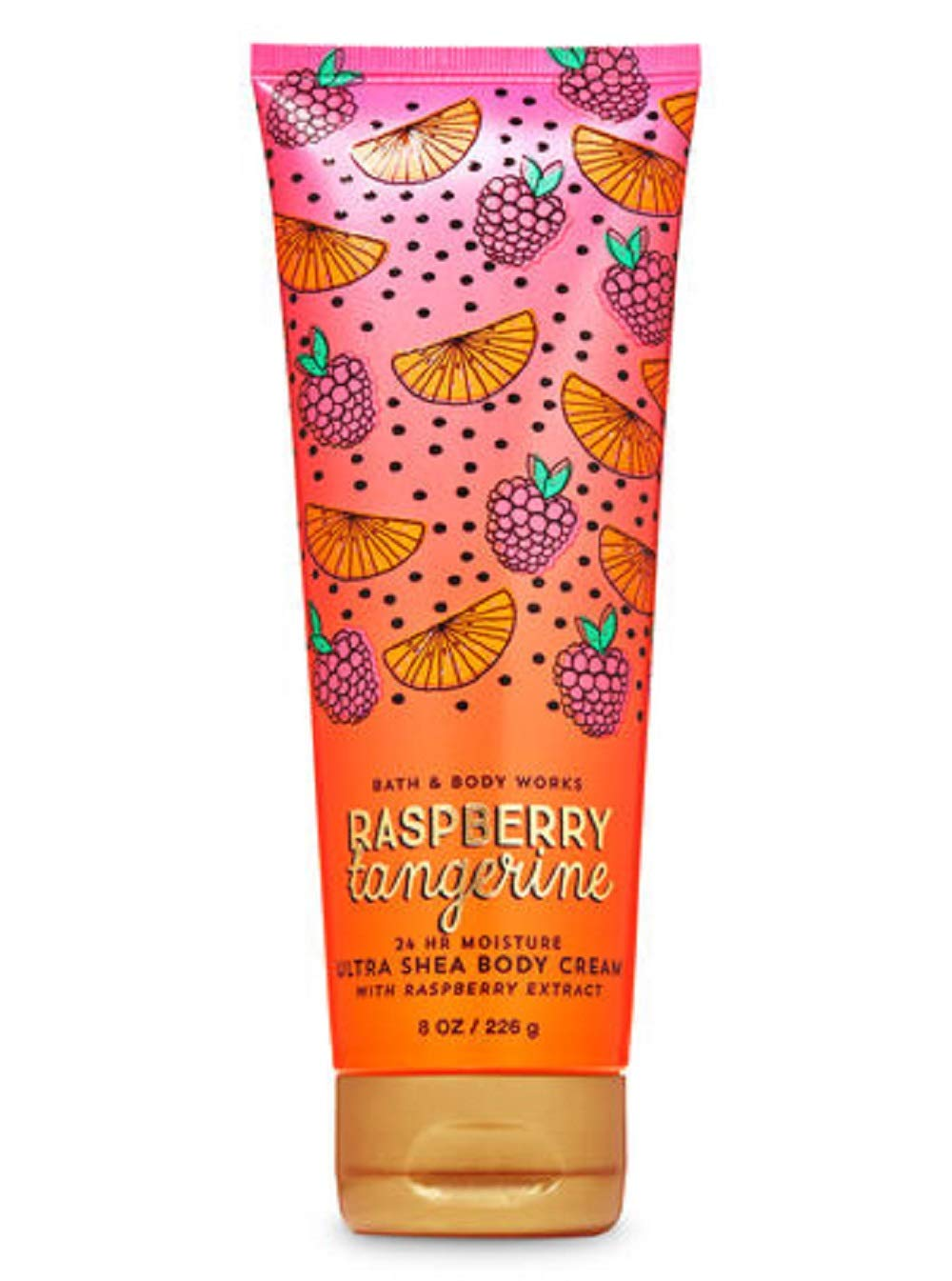 Bath and Body Works Raspberry Tangerine Body Cream 8 Ounce