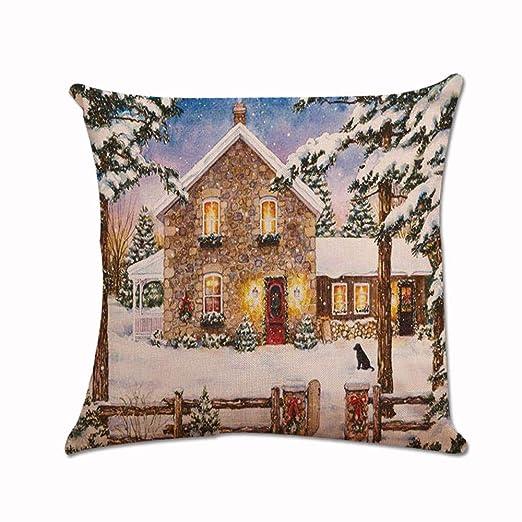 ZYUEER Vintage impresión DE Navidad sofá Cama Home café ...