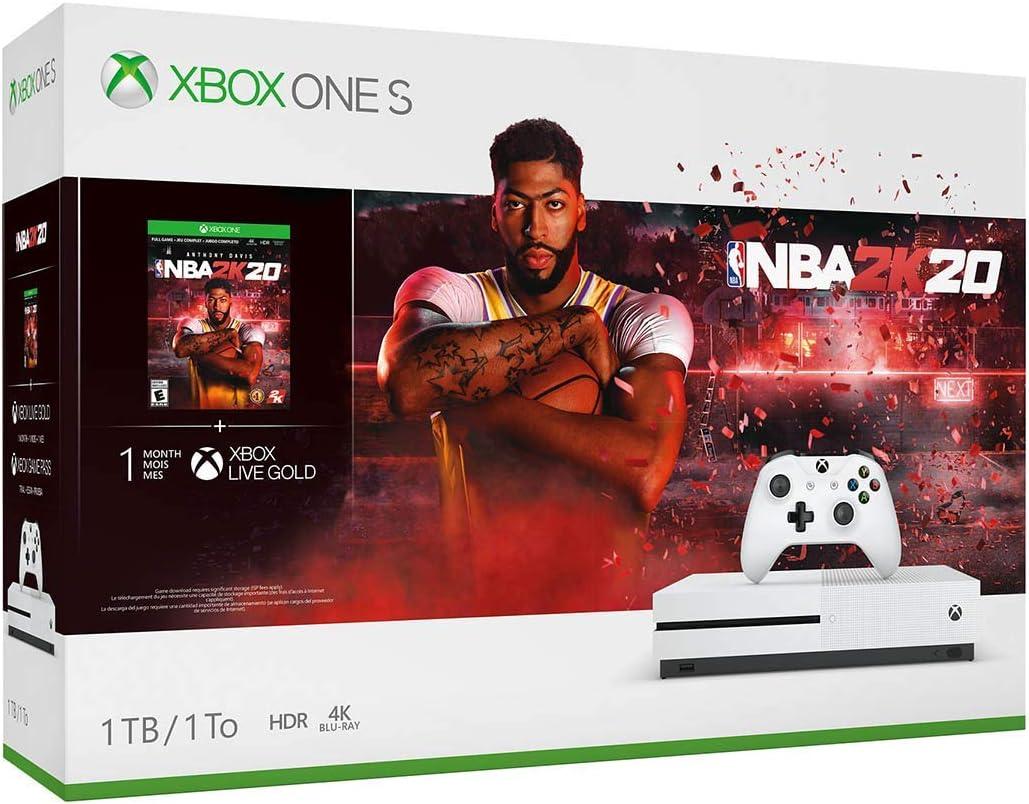 Amazon Com Xbox One S 1tb Console Nba 2k20 Bundle Video