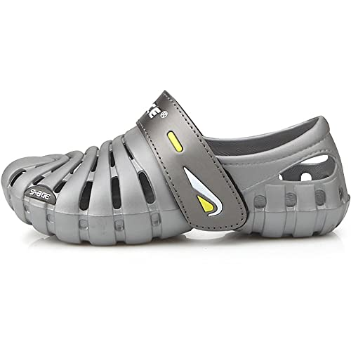 New Band Beach Aqua Water Sports Athletic Gray Mens Shoes Velcro Sandals