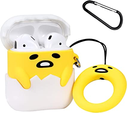 3D Figure AirPods Yellow Headphone Protective Case Cover