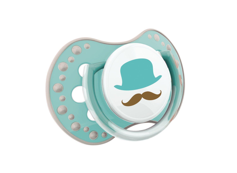 2 Schutzkappen 2 St/ück 0-3 Monate Retro baby kiefergerechte BPA frei LOVI 22//803boy Dynamischer Silikon-Schnuller