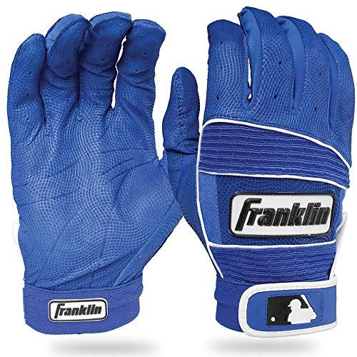 (Franklin Sports MLB Adult Neo Classic II Series Batting Gloves, Royal, Large)