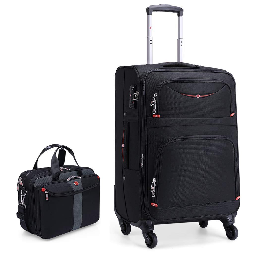 2ピースのセット、Ryanairキャビンは58x36x28cmとセカンド38x28x14cmの手荷物セットを承認しました - 両方のアイテムを持っていこう B07QSB5HHW