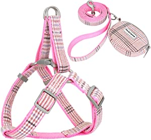 Forestpaw Step in Dog Harness & Leash Set for Small Medium Dogs,Matching Food Bag for Outdoor Walking or Hiking