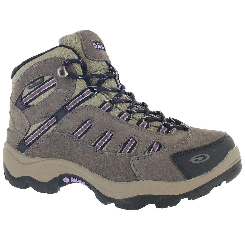 Hi-Tec Women Bandera Mid Waterproof Boots Dark Taupe/Viola Brown 7
