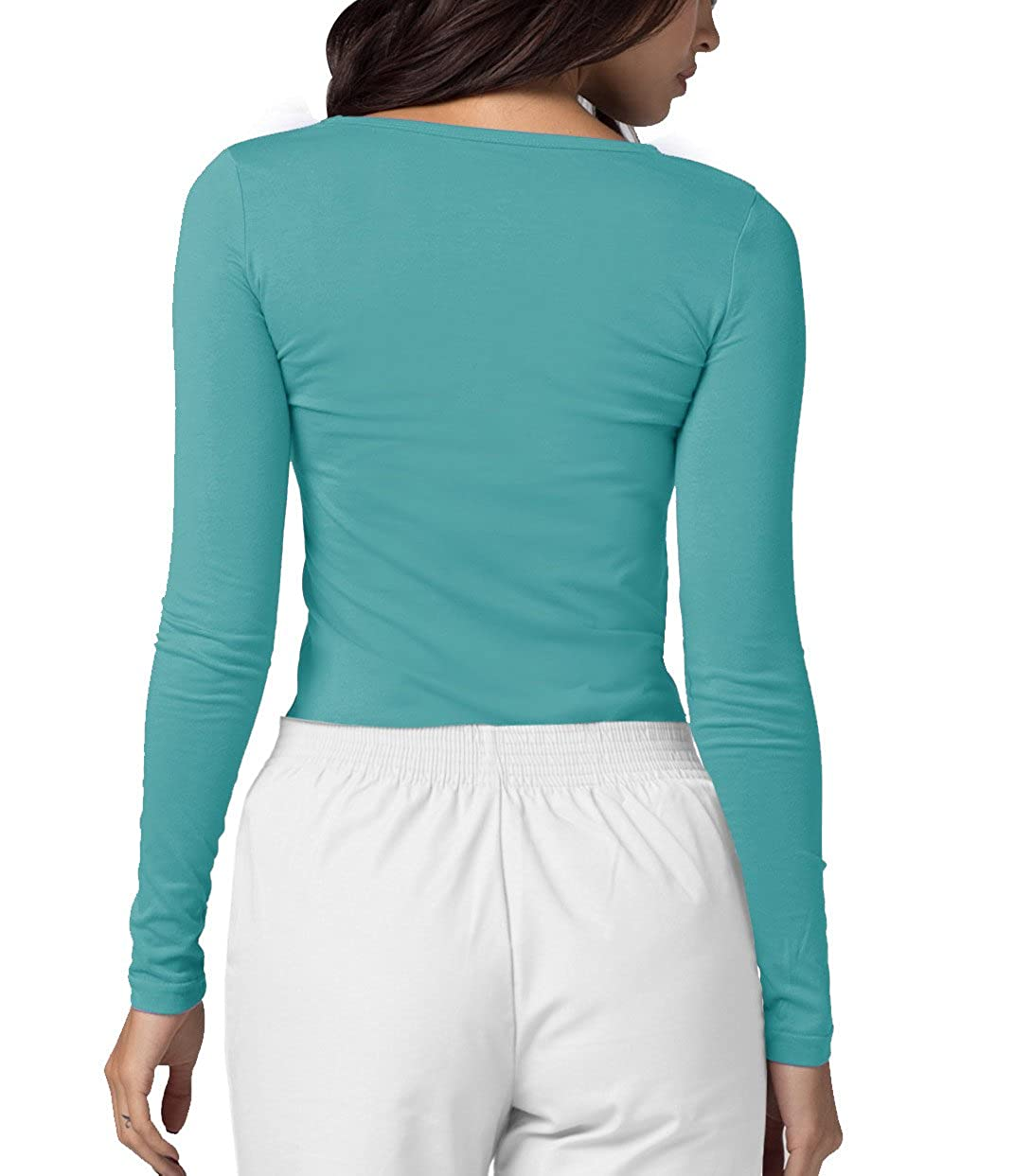 530ef600bf8 ADAR UNIFORMS - Underscrub Medical Long Sleeve Tee for Women: Amazon.co.uk:  Clothing