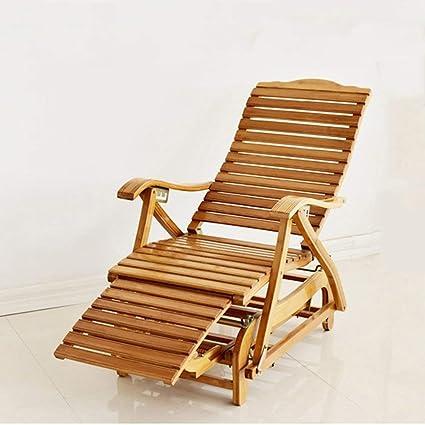 HhGold Silla de salón Silla Mecedora de bambú de 5 Niveles ...