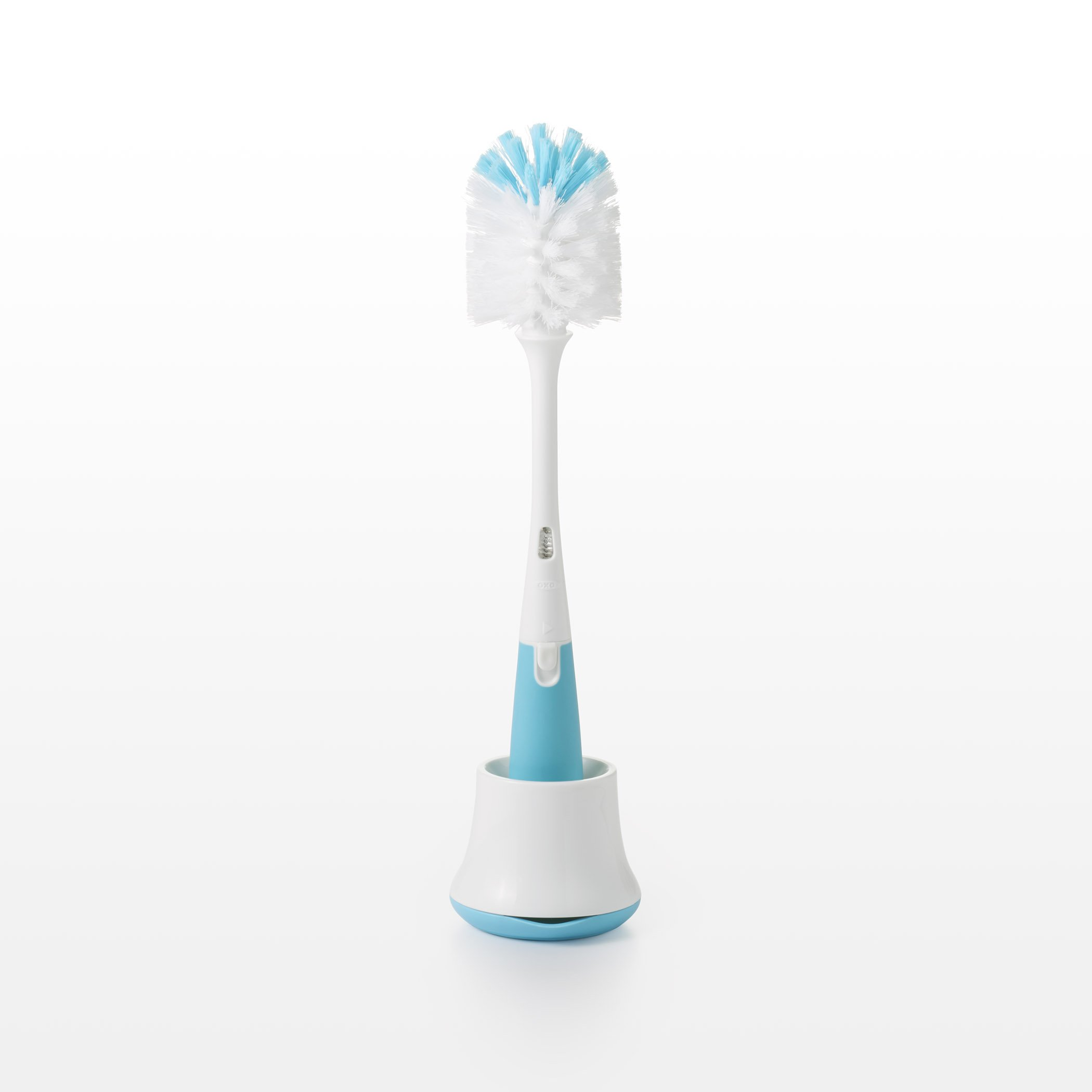 OXO Tot Bottle Brush with Nipple Cleaner and Stand, Aqua