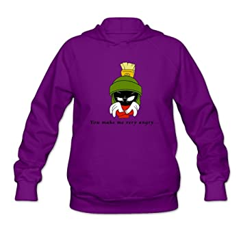 Marvin The Martian Quotes   Just Women S Movie Marvin The Martian Quotes Hoodies Purple Amazon