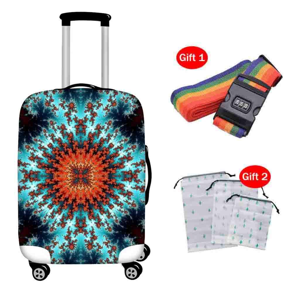 Suitcase Cover 18-30 Inch Elastic Shockproof Pull Bar Case Cover Zipper Closed Anti-Theft Breathable Luggage Protection Cover