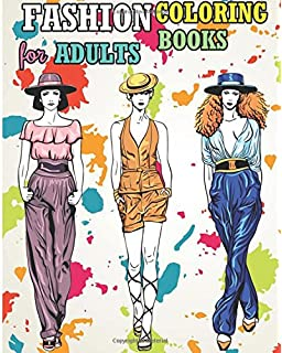 Fashion Coloring Books For Adults: Adult Fashion Coloring Books ...