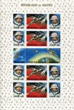 Republic of Guinea Stamps: 15 Stamp Minisheet, 1965, American and Russian Achievements in Space, MNH, Scott 388-393a