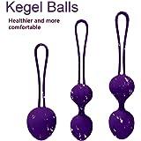 """Boules de Geisha"""" Violet""""- 3 boules évolutives- Exercices de Kegel pour tonifier les muscles pelviens-Rééducation du périnée après l'accouchement"""