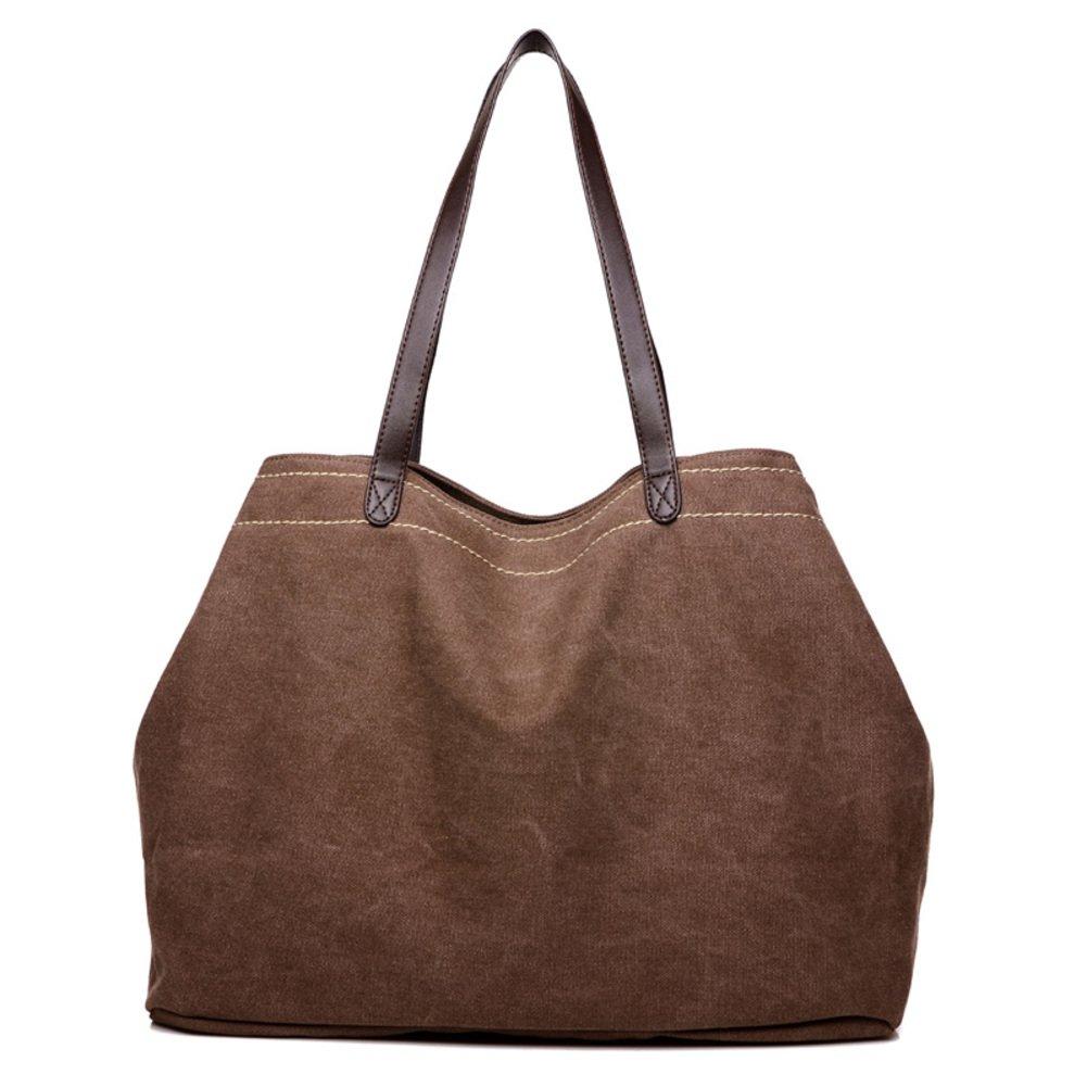 Ms. Canvas-tasche,Hochleistungs-umhängetasche Handtasche Große schultertaschen für frauen Crossbody taschen-braun taschen-braun taschen-braun B07B9VL67L Henkeltaschen Gute Qualität 254378